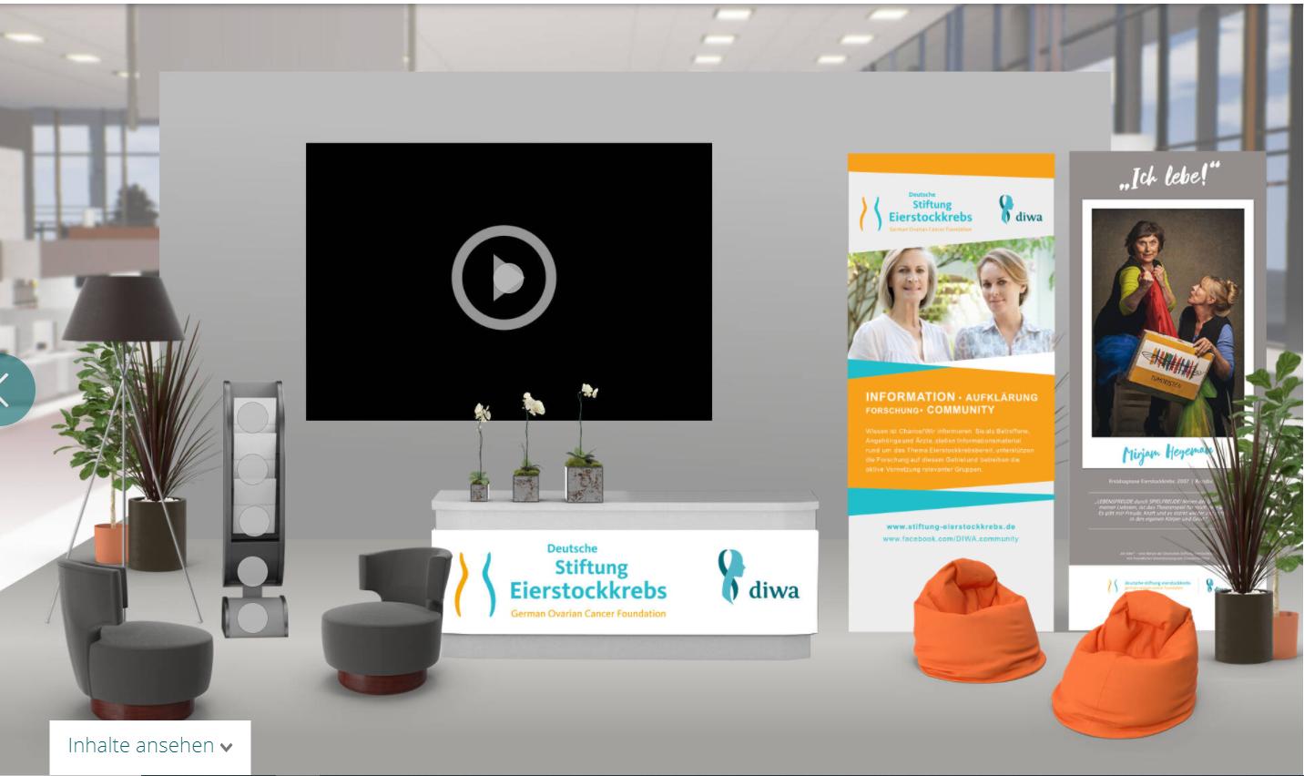 Stand virtuell Deutsche Stiftung Eierstockkrebs